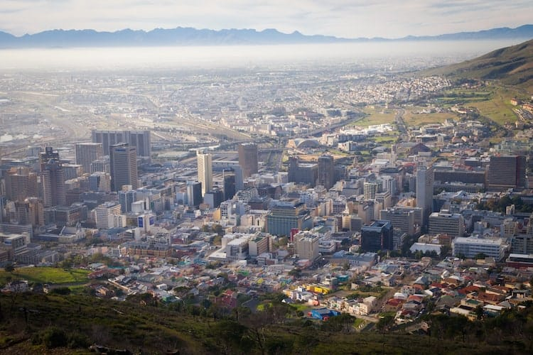 Overview of Cape Town city