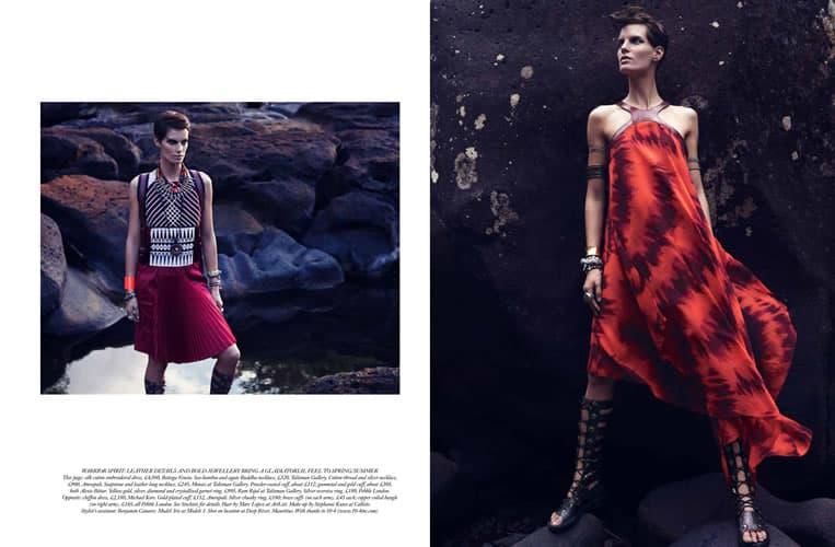 Photo Production Mauritius - Harper's Bazaar - Baker Kent