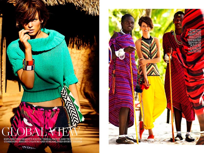Baker Kent - Australian Marie Claire - Photo Production Zanzibar