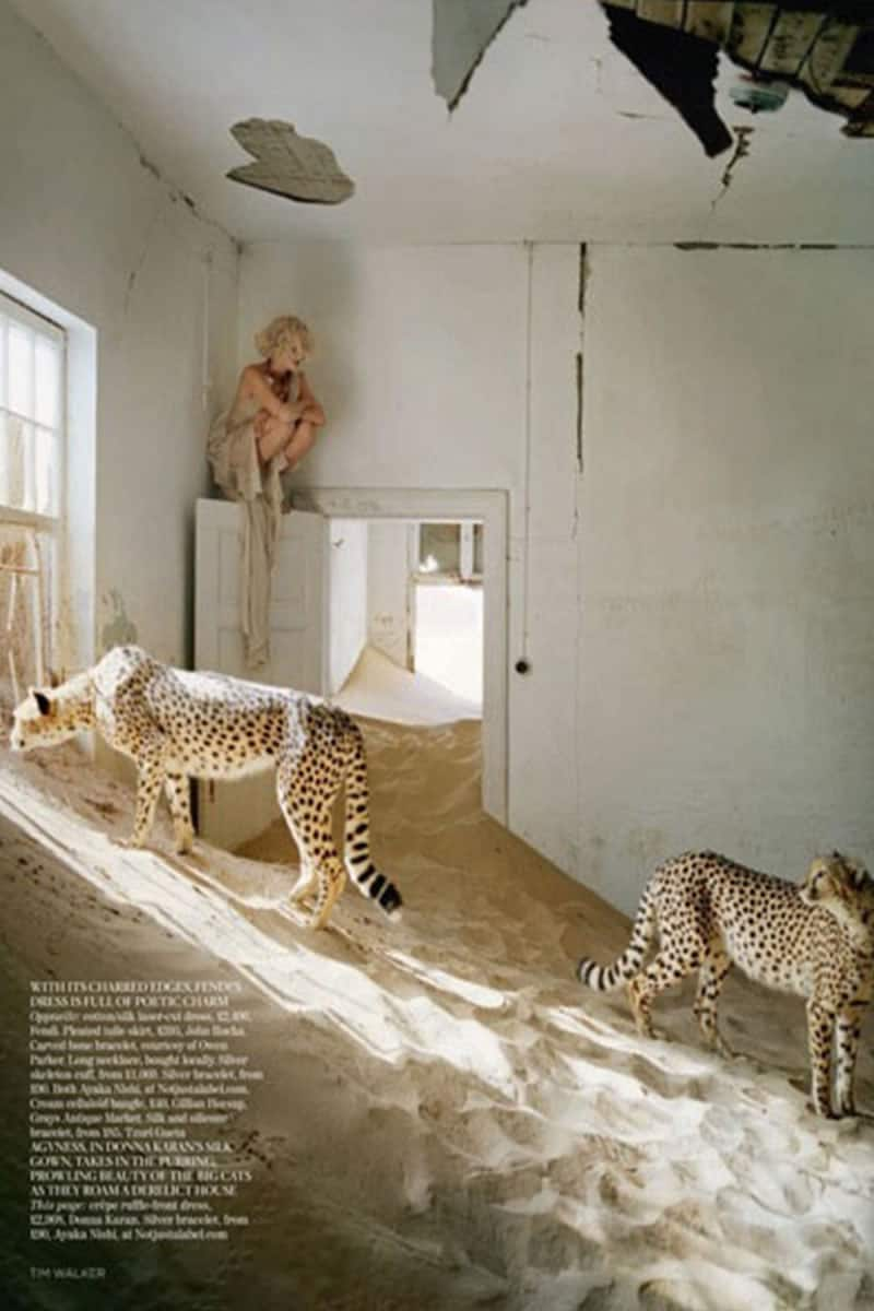 Photo production company Namibia - Baker Kent - UK Vogue Tim Walker