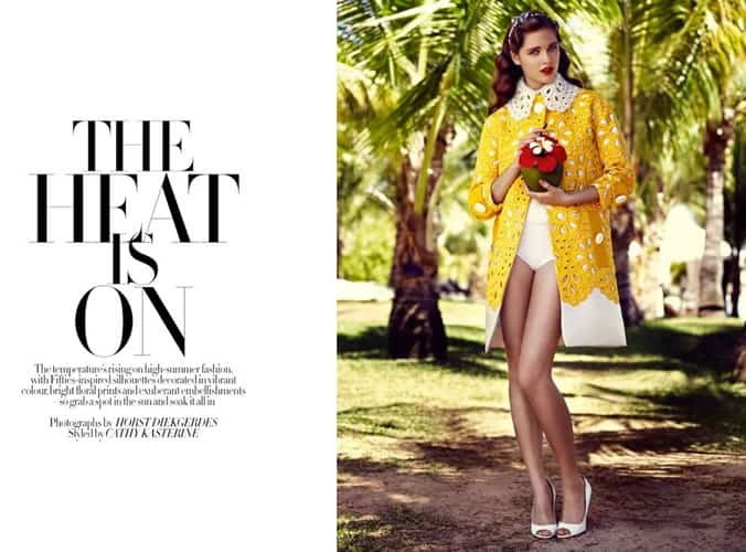Baker Kent photo production Mauritius UK Harpers Bazaar