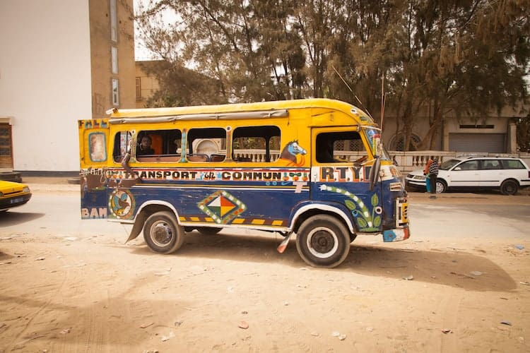 Small colourful bus in Senegal