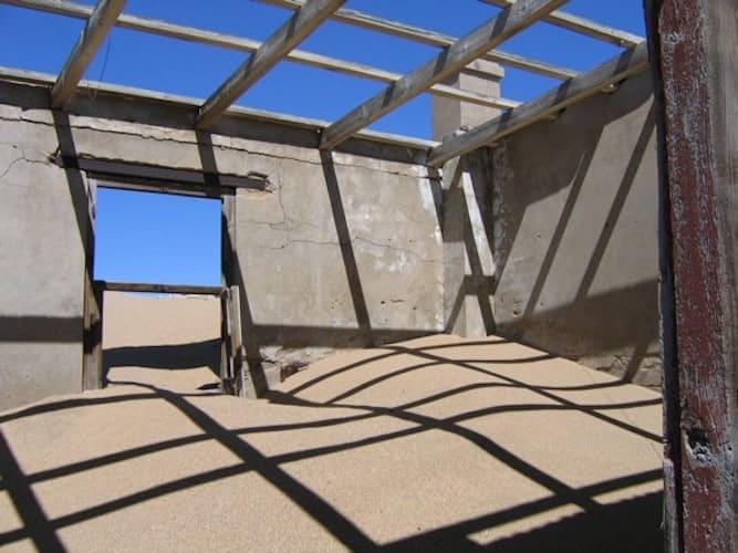Abandoned house in the Namib desert