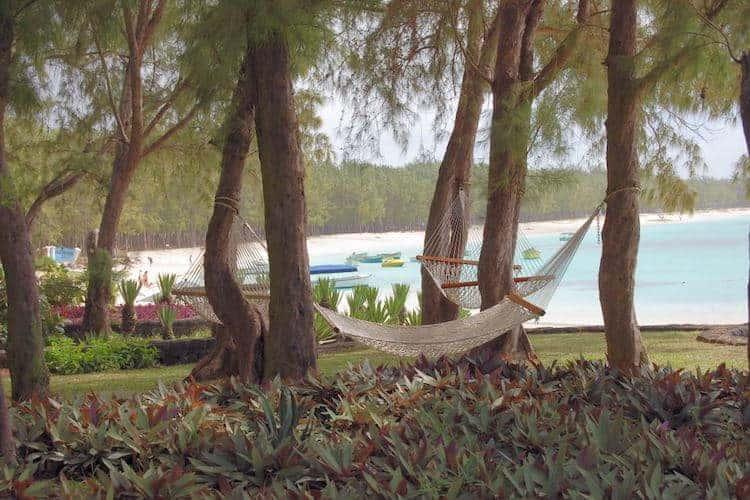 Hammock by the beach in Mauritius