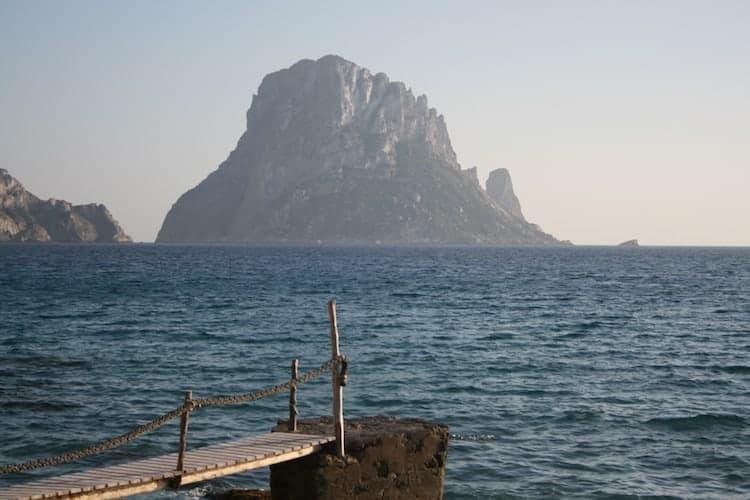 Tall rocky island