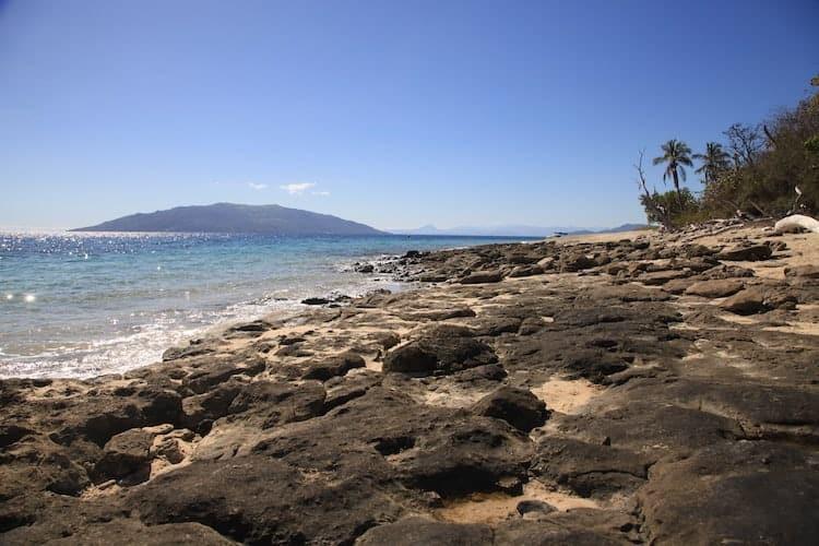 Rocky beach in Madagascar