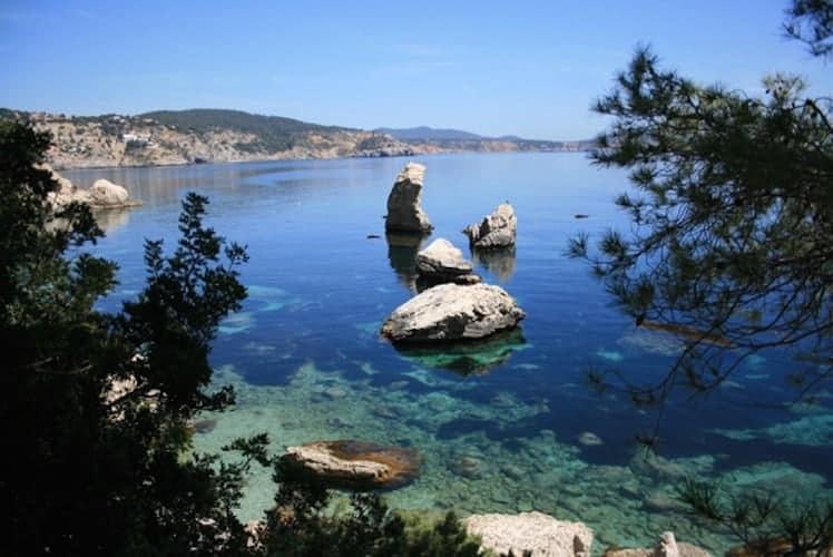 Rocky bay in Ibiza
