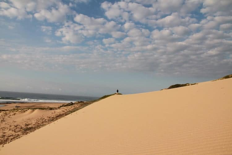 Sand dune next to the ocean