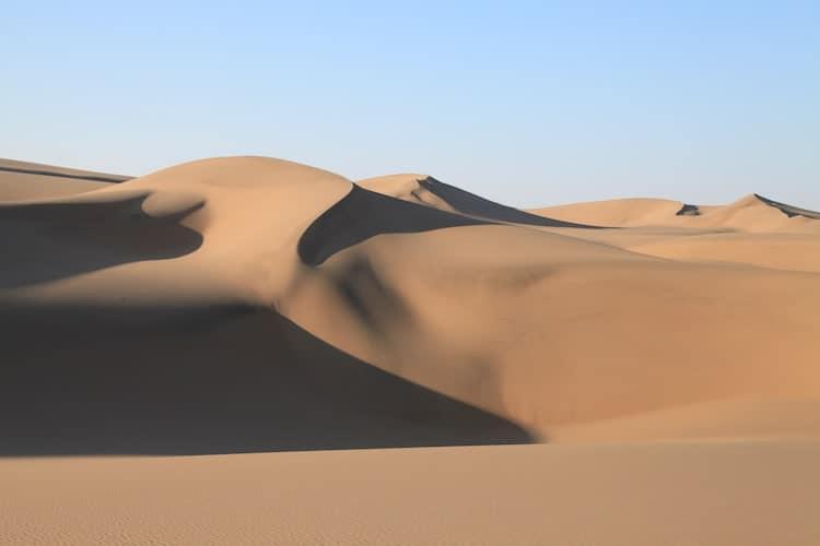 Large Namibian sand dunes