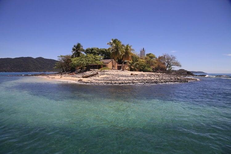 Beach house on a small island