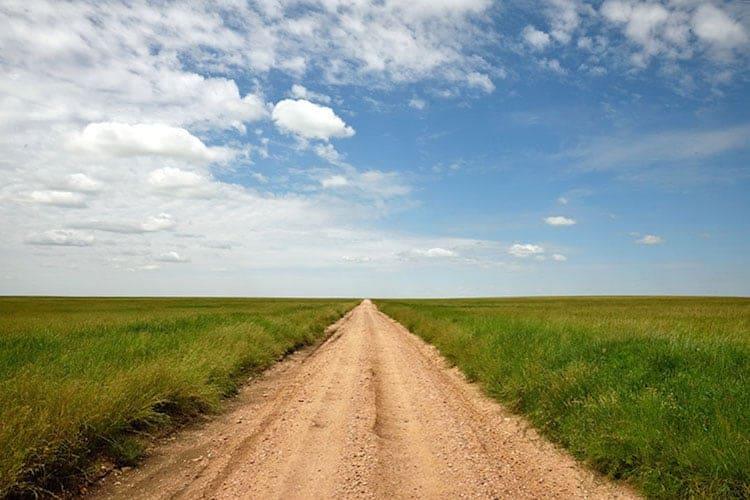 Long gravel road, Tanzania