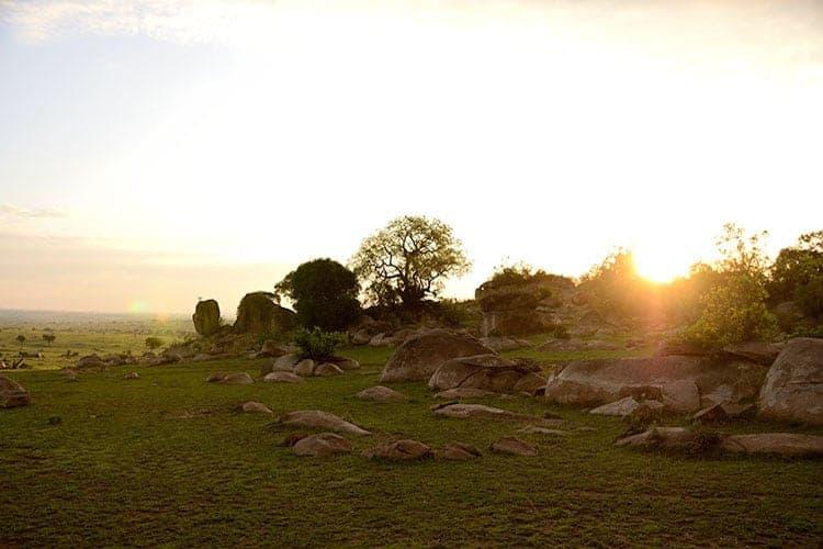 Sunset landscape, Tanzania