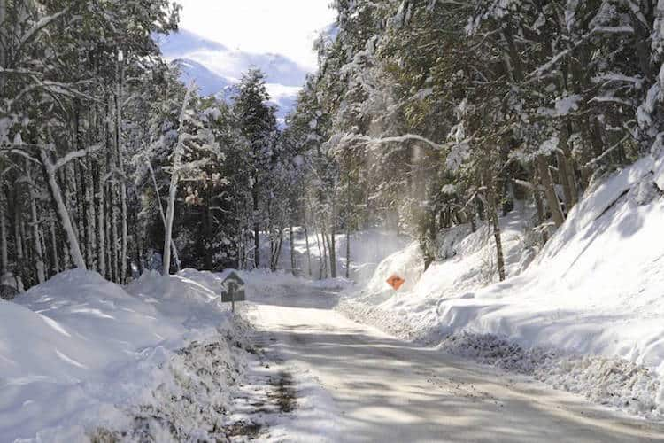 Snowy road, Chile