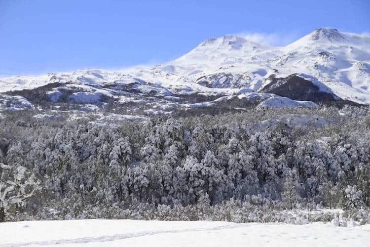 Snowy landscape, Chile