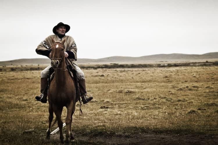 Man riding horse