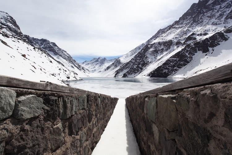 Ice lake mountain, Chile