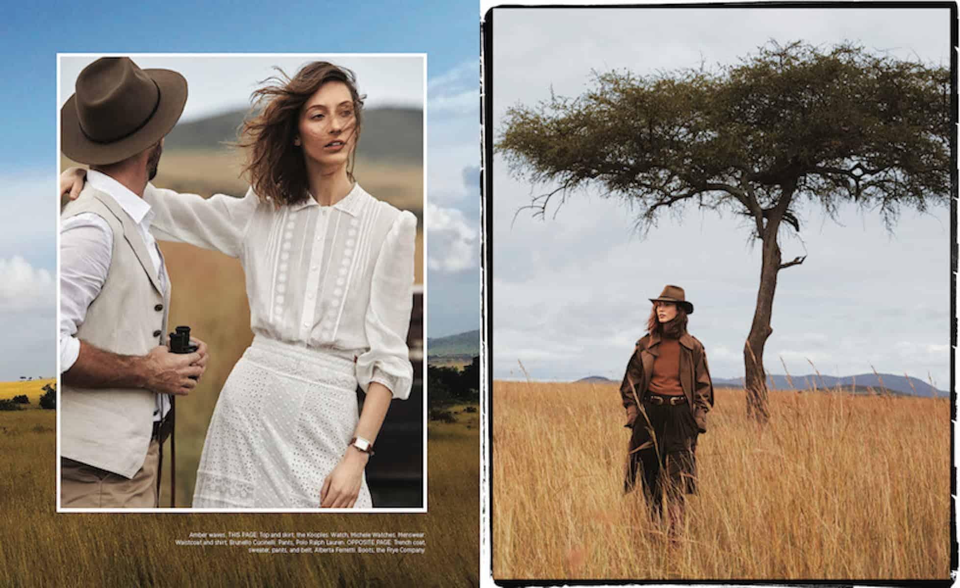Harpers Bazaar – Alexi Lubomirski – Kenya - Production by Baker & Co