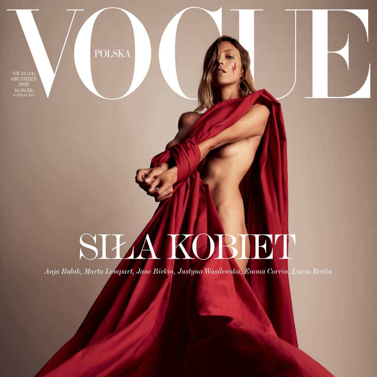 Sila Kobiet on the Cover of Polska Vogue Magazine