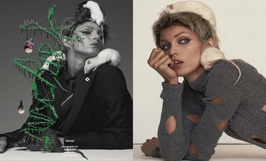 Vogue Italy- Animal Issue - Anja Rubik - Tom Guiness - Production Baker & Co